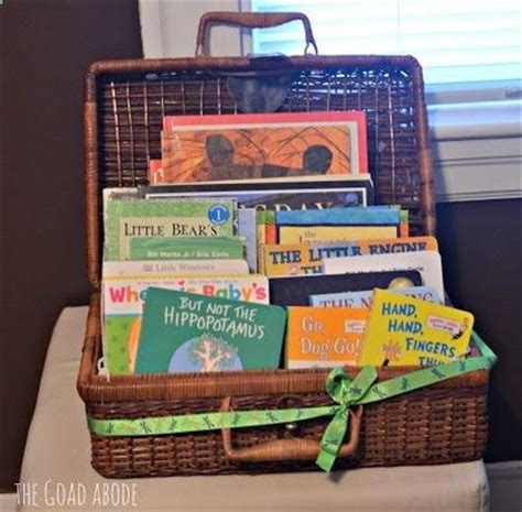 the baby favor books basket of books this is such a great idea for a baby
