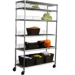 wire shelving with wheels ecostorage 6 tier wire shelving rack with wheels