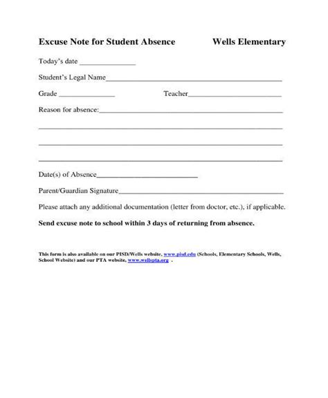 11 School Excuse Note Templates Pdf Free Premium Templates School Note Template