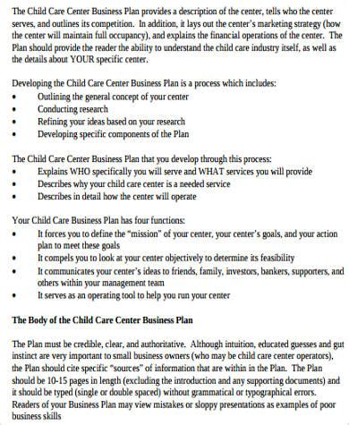 free daycare business plan template 28 images daycare