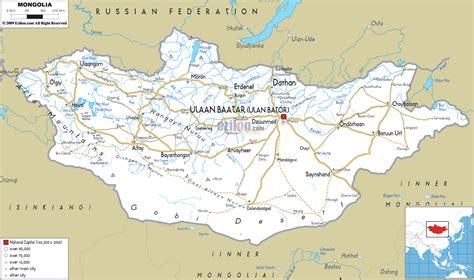 mongolia map road map of mongolia ezilon maps