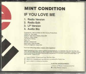 mint condition if you love me mint condition if you love me cd at discogs