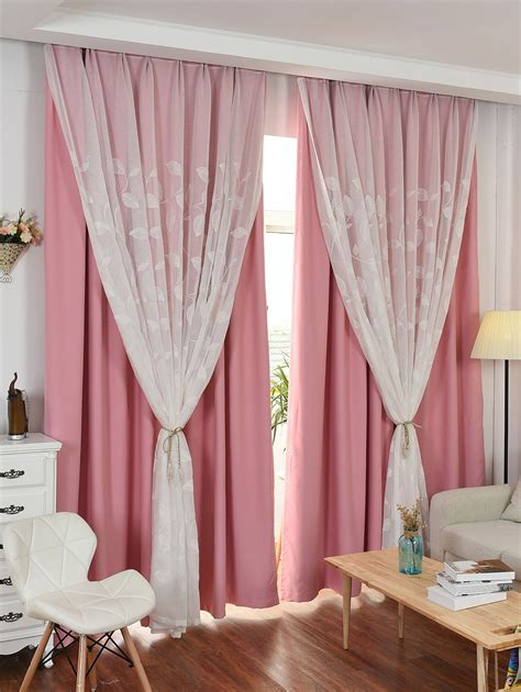 pink tulle curtains princess double layers blackout and tulle curtains in pink