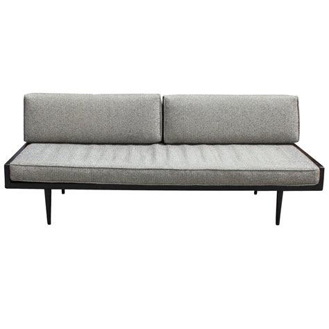 sofa style daybed sleek armless danish style sofa or daybed at 1stdibs