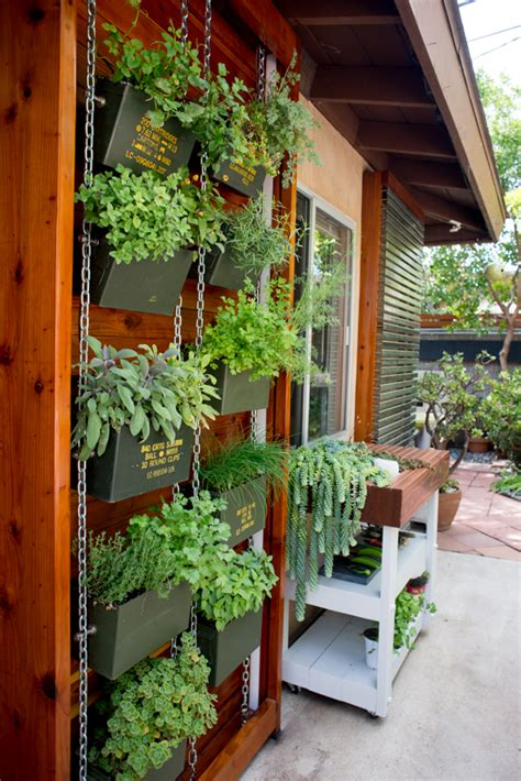 ammo can vertical herb garden benoit design