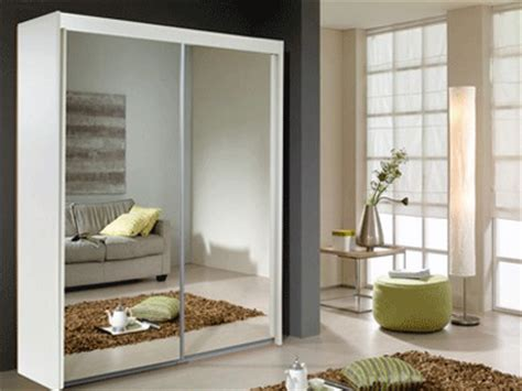 White Sliding Mirror Wardrobe by New York 2 Door 2 Mirror Sliding Door Wardrobe In White
