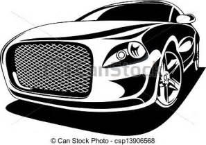 sports car black and white sports car clipart 68