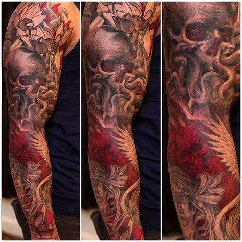 classic skull tattoo designs 45 octopus skull designs and ideas