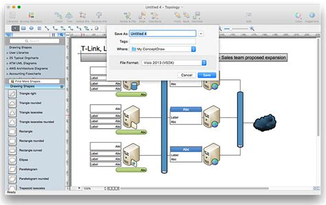 visio templates free how to convert ms visio 174 2010 vsd file to conceptdraw pro