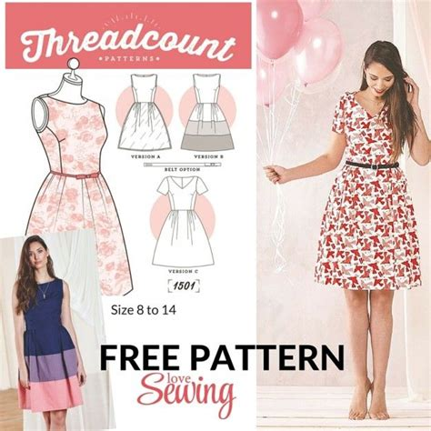 clothes pattern download free free download threadcount 3 in 1 dress pattern n 228 hen