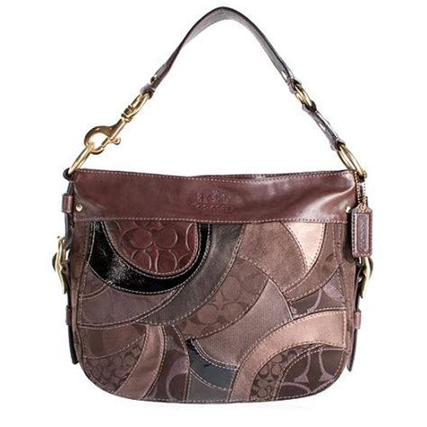 Coach Purse Patchwork - coach patchwork mosaic zoe hobo handbag