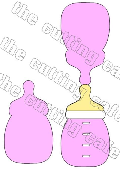 Baby Bottle Template Card by The Cutting Cafe Baby Bottle Shaped Card Template