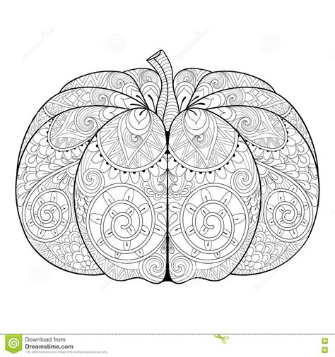 zentangle pumpkin coloring page printable fall coloring zentangle stylized autumn pumpkin for thanksgiving day