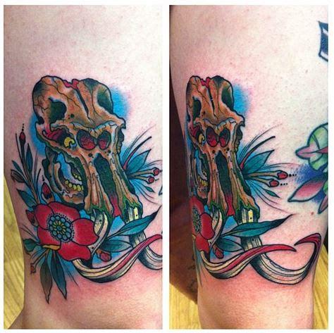 mastodon tattoo mastodon skull zoo