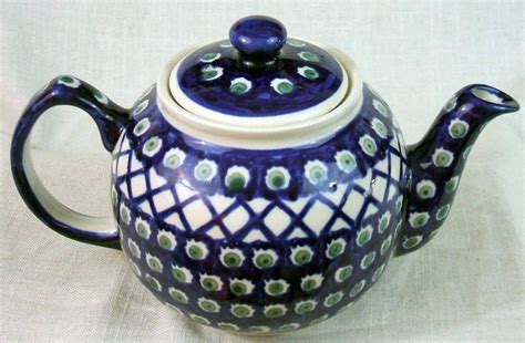 Handmade In Poland - boleslawiec made in poland teapot ebay