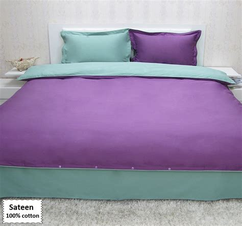 purple and green duvet cover set 4 pcs beddingeu