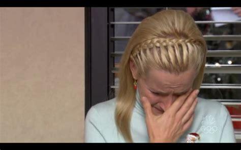 braids for the office the office angela braided headband hair pinterest