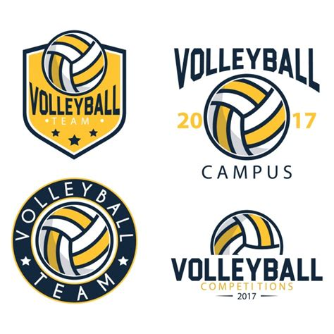 volleyball logo templates free vector volleyball
