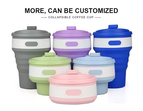 Silicone Foldable Cup Mould 2017 new style foldable silicone mug cup collapsible