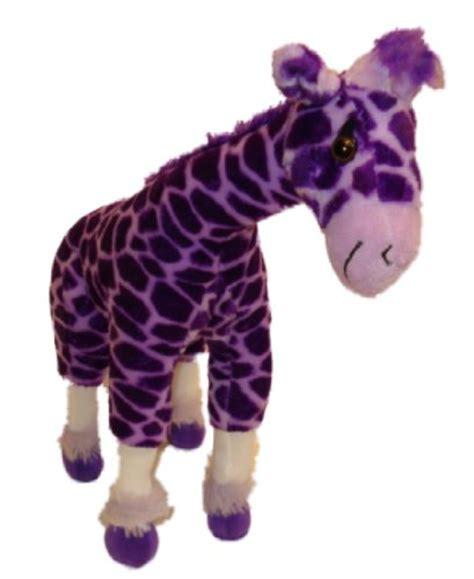cat purple giraffe plush purple giraffe stuffed with leg support