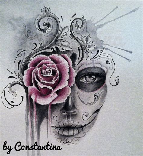 watercolor sugar skull tattoo watercolor sugar skull tattoos