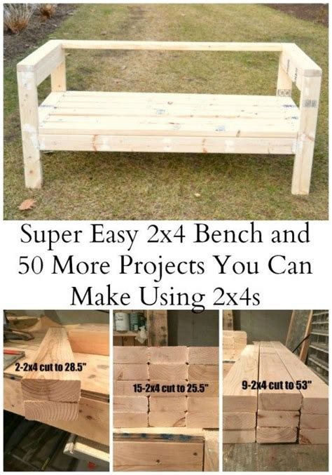 easy 2x4 bench easiest 2x4 bench plans ever ana white board and