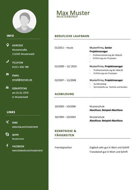 Vorlage Bewerbung Und Lebenslauf by Lebenslauf Muster Tipps Bewerbung