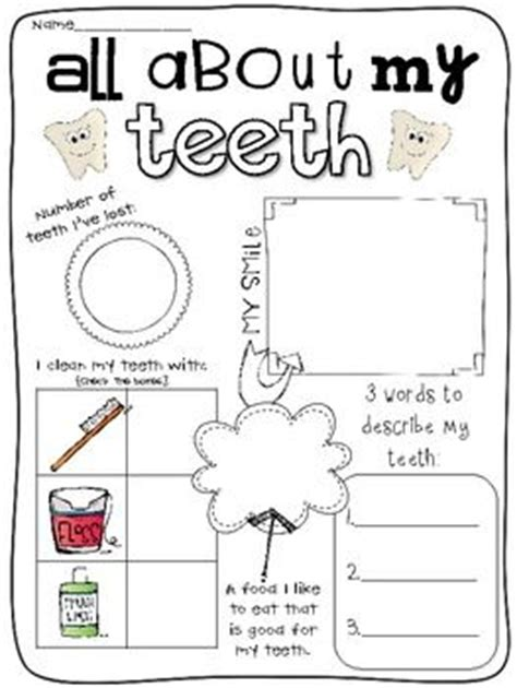 Dental Worksheets For by 1000 Images About Dental Health Theme On