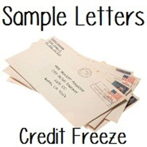Freeze Credit Card Interest Letter Sle Request To Place A Credit Freeze Letter Doctor Of Credit