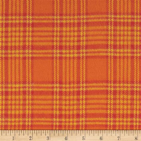 plaid fabric primo plaids harvest flannel box plaid orange discount