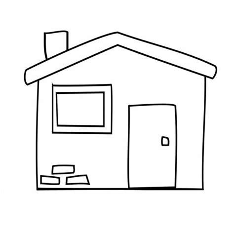 disegni casa disegno di la casetta da colorare per bambini