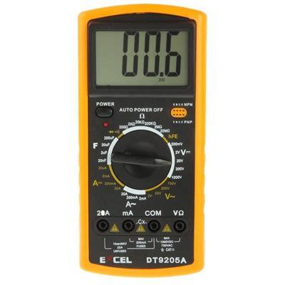 multimeter diode test transistor dt9205a lcd digital multimeter for diode testing transistor hfe measuring function alex nld
