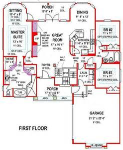 Ranch Walkout Floor Plans by 5 Bedroom 3 Bath Southern House Plan Alp 099h