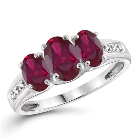 1 38 cttw created ruby gemstone accent white