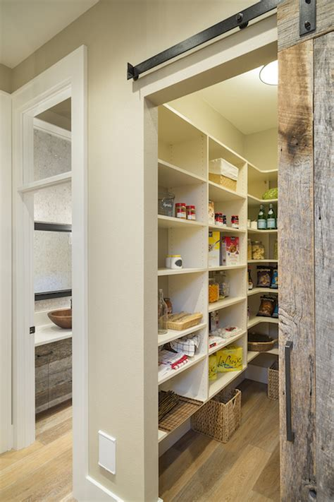 Pantry With Barn Door Transitional Kitchen Ttm Barn Door For Pantry
