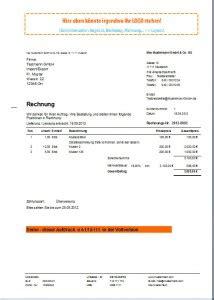 Rechnungskorrektur Umsatzsteuer Muster rechnungsprogramm rechnungssoftware faktura
