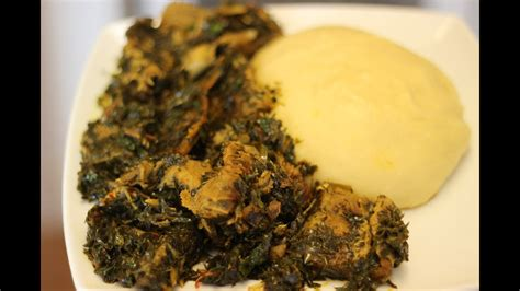 afang soup nigerian food african food youtube