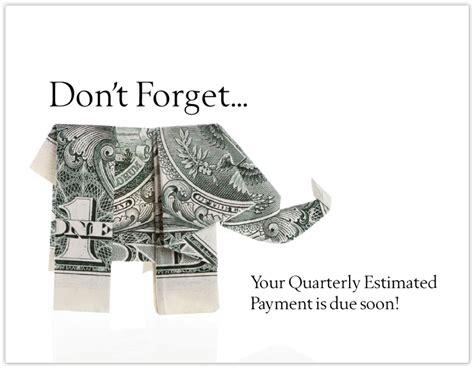 Estimated Tax Payment Reminder Letter merchandise list view
