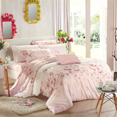 style bedding 4pcs bedding set light pink warm