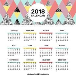 Calendario 2018 Para Editar Calendario 2018 En Estilo Descargar Vectores Gratis