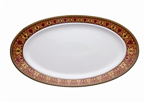 Design This Home Delivery Vanity versace medusa red fish plate 50cm