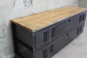 annecy meuble tv style industriel ancien vestiaire patin 233