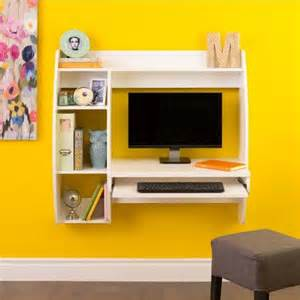 Wall Mounted Floating Computer Desk And Hutch W Storage Prepac Floating Wall Mounted Desk With Storage And