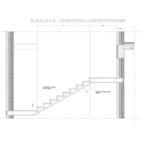 scale per interni dwg scala cemento armato particolare costruttivo dwg