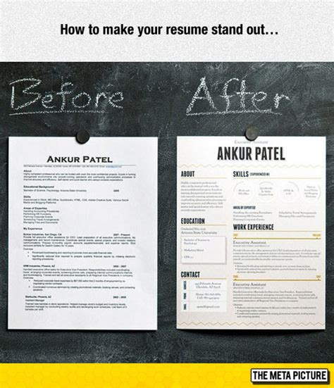 Make Your Resume Stand Out resume that stands out resume ideas