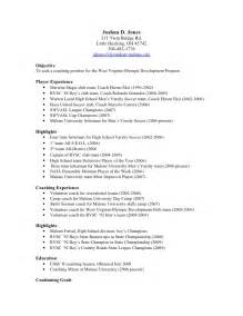 High School Athletic Director Sle Resume by Sle Resume For College Coach Augustais