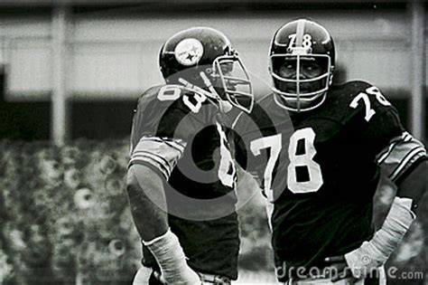 who were the members of the steel curtain ernie holmes and dwight white editorial stock photo