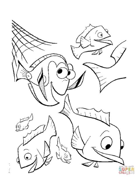 coloring page of fishing net the fishing net coloring page free printable coloring pages