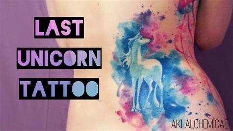 will watercolor tattoos last the last unicorn watercolor