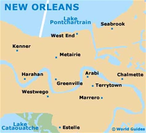 usa map states new orleans new orleans orientation layout and orientation around new